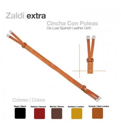 Cincha Zaldi Extra Cuero con Poleas