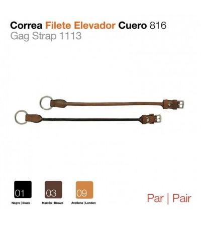 Correa Filete Elevador de Cuero 816 (Par)