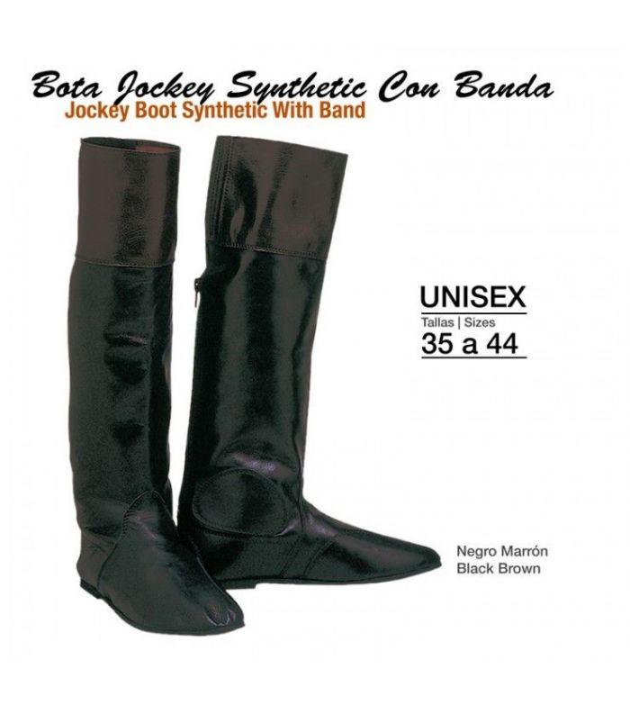 Bota -Jockey- Cuero C/Banda