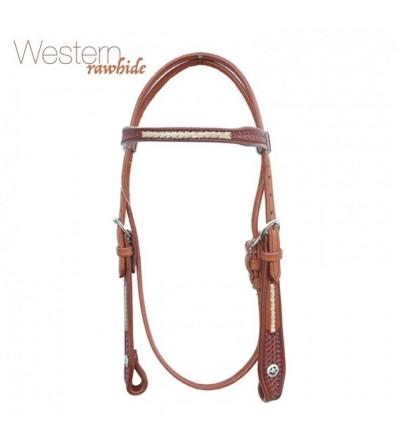 Cabezada Western Rawhide Sin Riendas Br00128
