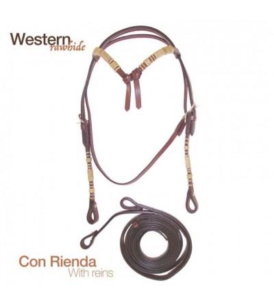 Cabezada Western Rawhide con Riendas Br00413
