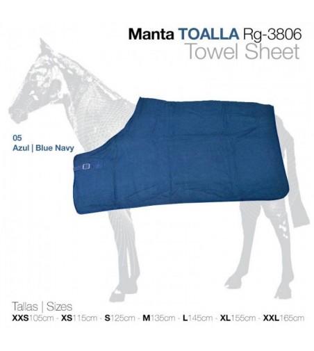 Manta Toalla para Caballo Rg-3806 Azul
