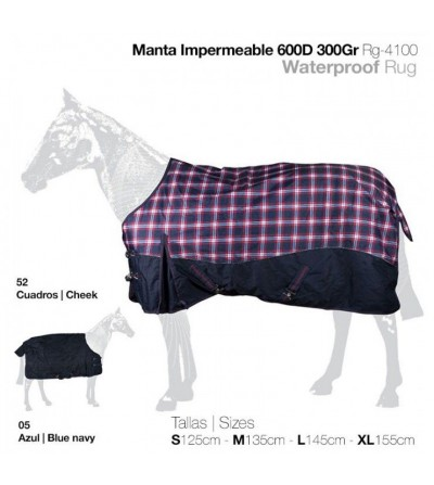Manta Impermeable con Cubrecola 300Gr