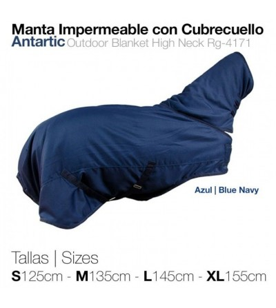 Manta Impermeable con Cubrecuello Antarctic