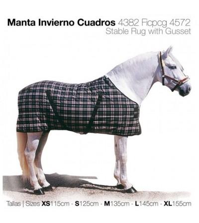 Manta Acolchada Invierno Cuadros 4382