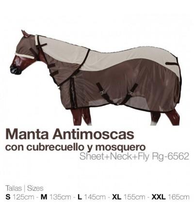 Manta Antimoscas+Cubrecuellos+Mosquero