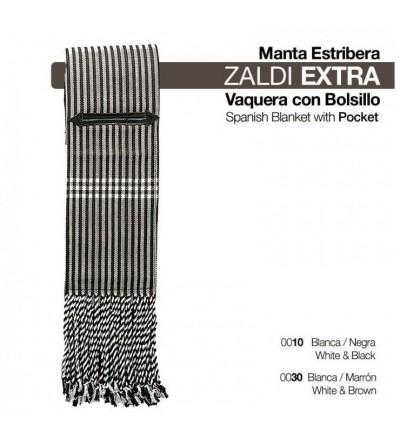 Manta Estribera Zaldi Extra de Lona con Bolsillos