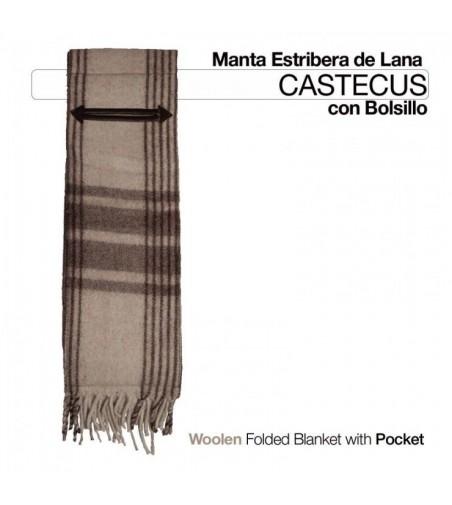 Manta -Estribera- Lana C/Bolsillo Eco.