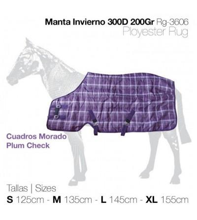 Manta de Invierno 300D 200Gr Morada