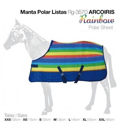 Manta Polar Listas Rg-3570 Arcoiris