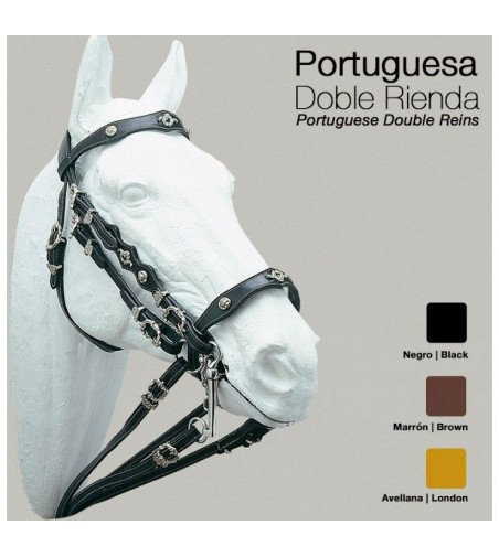 Cabezada Portuguesa de Doble Rienda Castecus