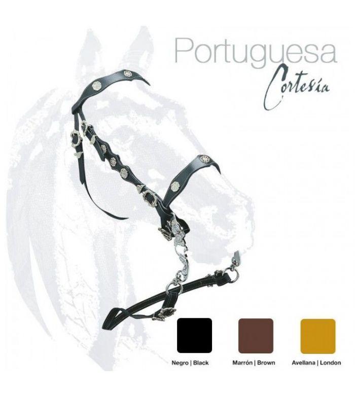 Cabezada Portuguesa con Adornos Castecus