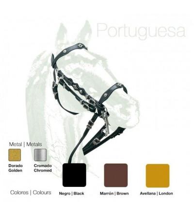 Cabezada Portuguesa Doble Rienda Cuero extra