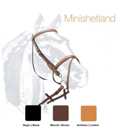 Cabezada de Montar Cuero Minishetland