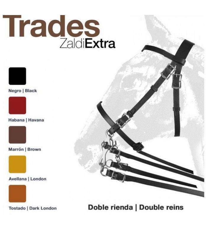 Cabezada de Montar Trades Zaldi Extra Doble Rienda