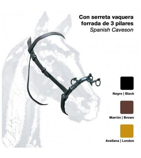 Cabezada de Cuerda con Serreta Vaquera 3 Pilares