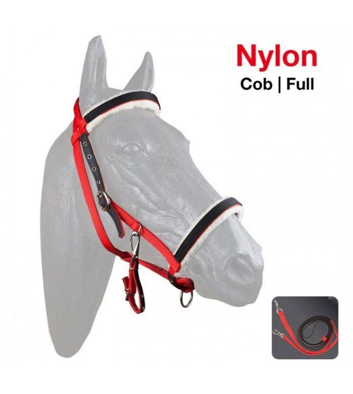 Cabezada Cuadra-Montar de Nylon