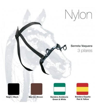 Cabezada de Nylon con Serreta Vaquera 3 Pilares