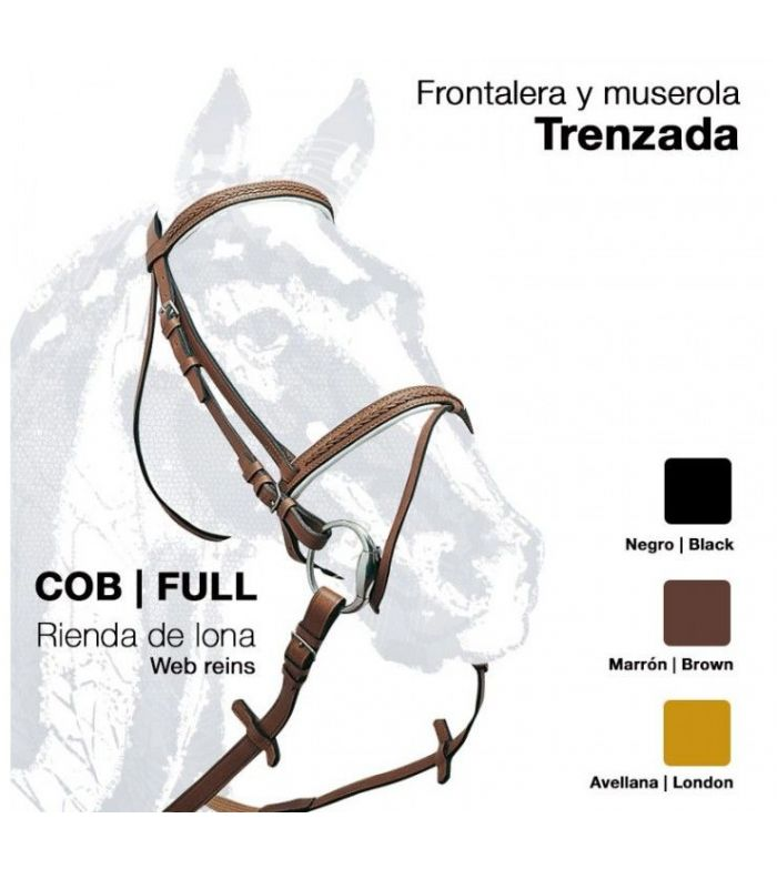 Cabezada Montar Cuero R/Lona 0018