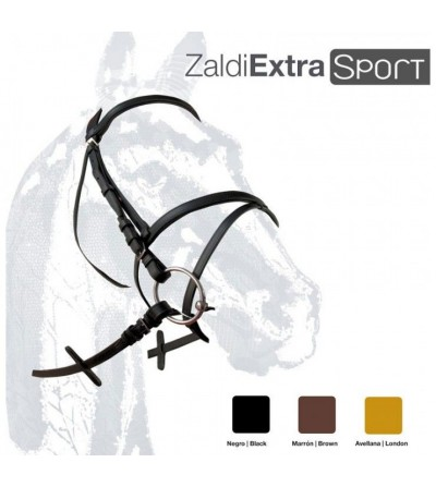 Cabezada Inglesa Zaldi Extra Sport Doble Rienda