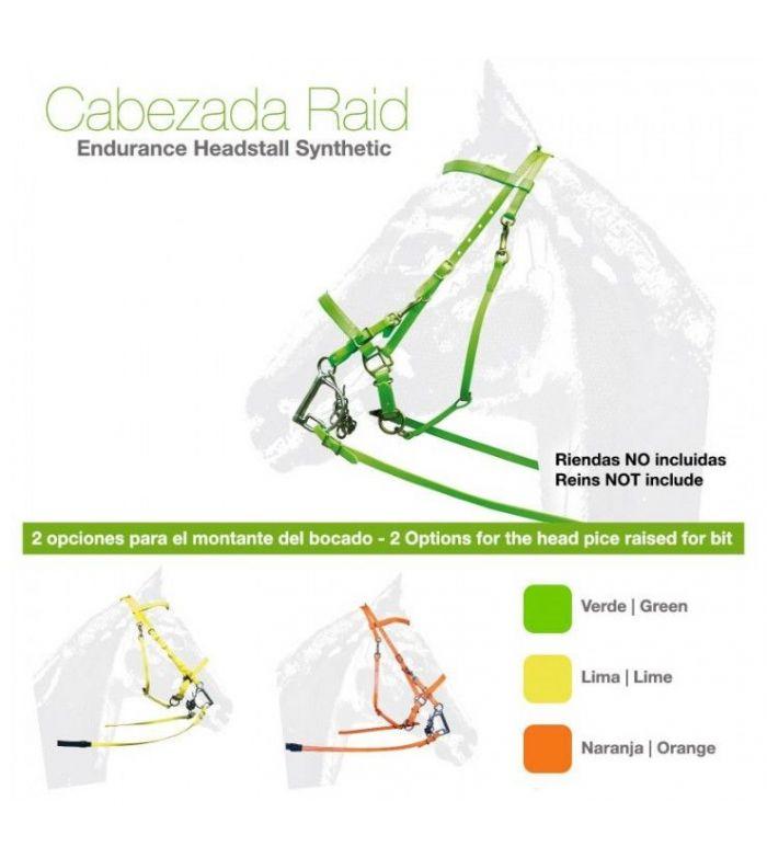 Cabezada Endurance Fluor Synt Sin Riendas