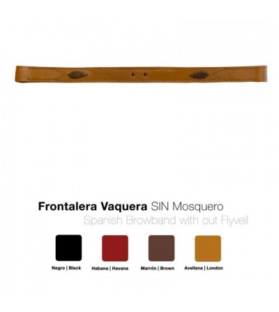 Frontalera Cabezada Vaquera sin Mosquero