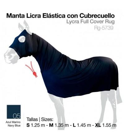 Manta Licra Elástica con Cubrecuello Azul