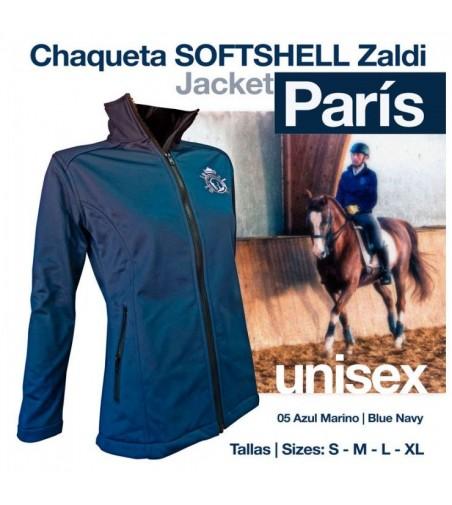 Chaqueta Softshell Zaldi Paris Azul