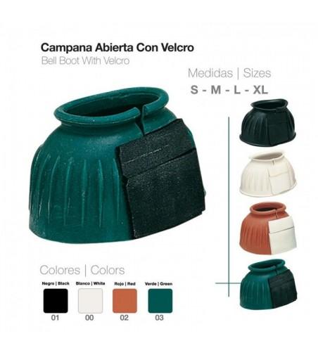 Campana Abierta de Goma con Velcro