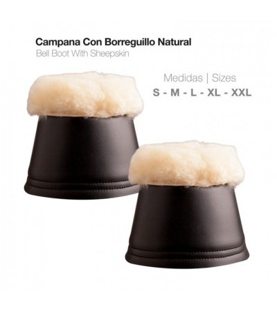 Campana con Borreguillo Natural