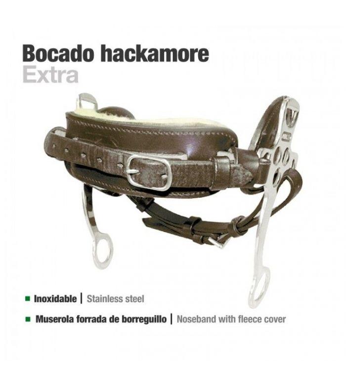 Bocado Hackemore Cuero Inoxidable