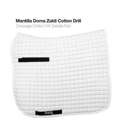 Mantilla Doma Zaldi Cotton Drill Blanca