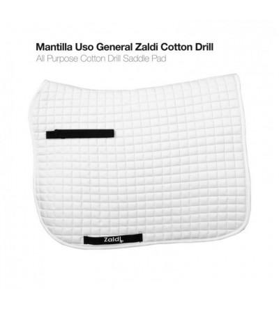 Mantilla Uso General General Zaldi Cotton Drill Blanca