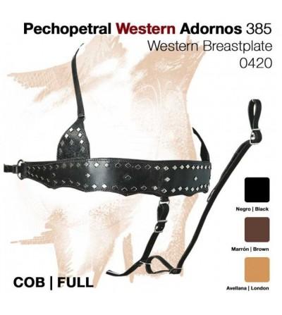 Pechopetral Western con Adornos