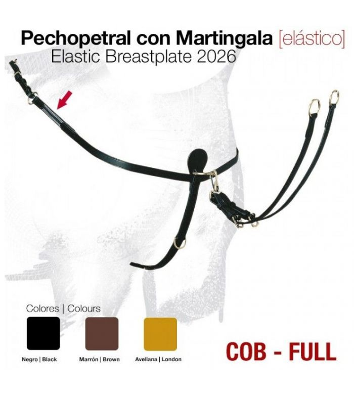Pechopetral Cuero con Martingala