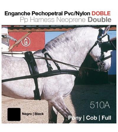 Enganche Pechopetral de Pvc/Nylon Doble 8008