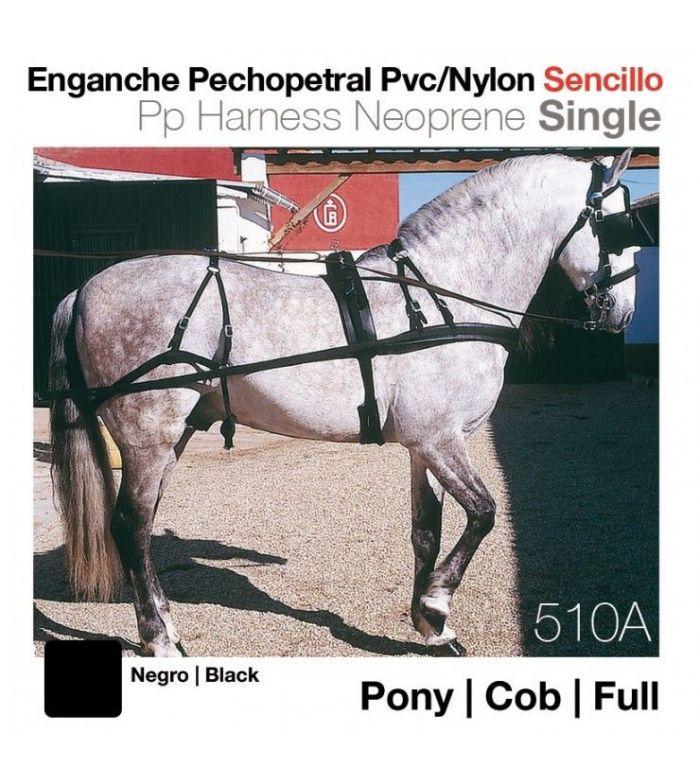 Enganche Pechopetral de Pvc/Nylon Sencillo 8008