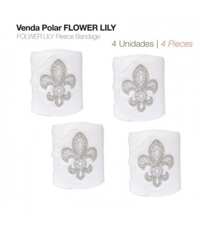 Venda Polar Flower Lily Blanca