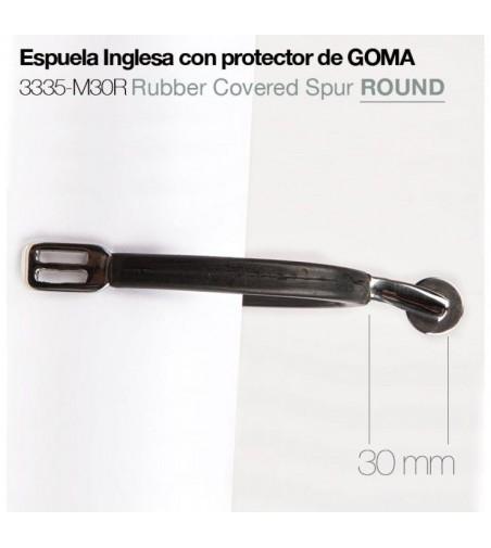 Espuela Inglesa con Protector Goma 3335-M30R Round