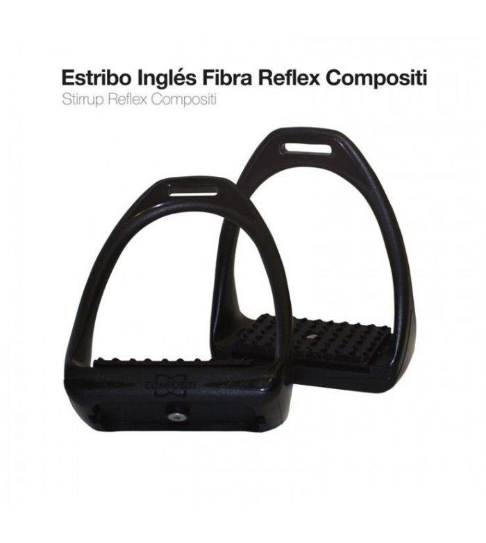 Estribo Inglés Reflex Compositi Negro