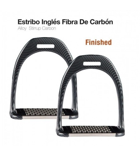Estribo Inglés Carbon Finished 1904 Negro