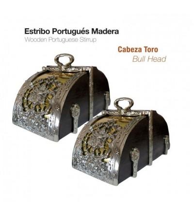 Estribo Portugués de Madera Cabeza Toro