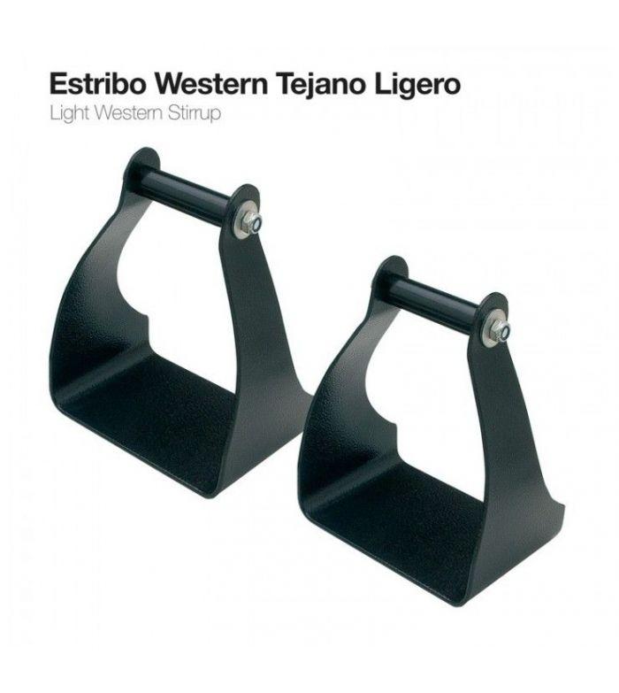 Estribo Western Ultra-Ligero Negro