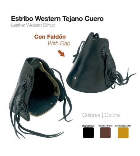 Estribo Western de Cuero con Faldón