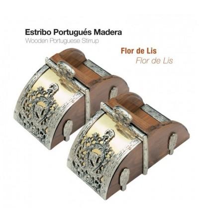 Estribo Portugués Madera Flor de Lis