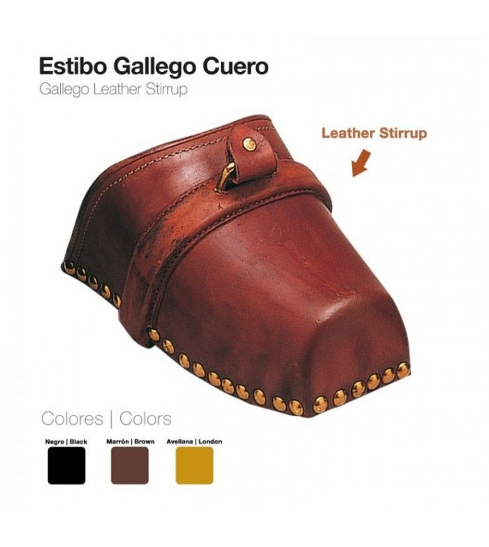 Estribo Gallego de Cuero