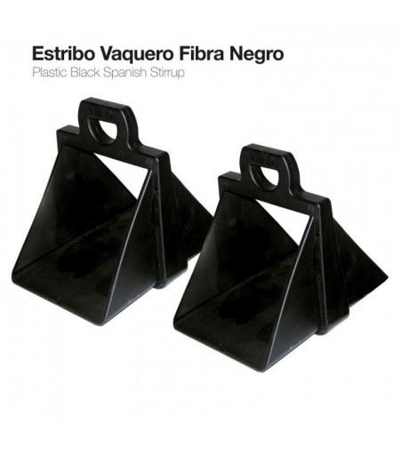 Estribo Vaquero Fibra 22153-K Negro