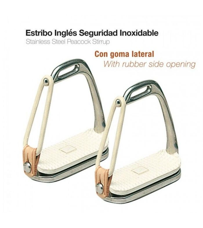 Estribo Seguridad Inoxidable con Taco