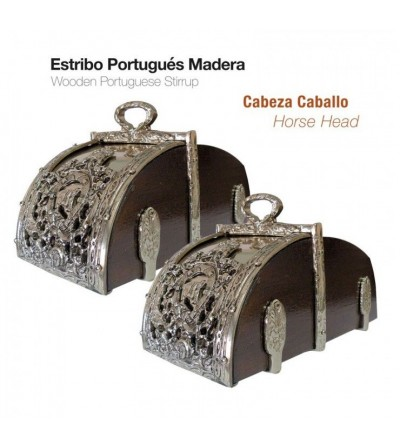 Estribo Portugués Madera Cabeza Caballo