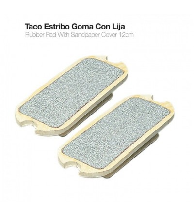 Taco Estribo Goma con Lija 22004R (Par)